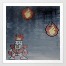 Fire man (megaman 1) Art Print