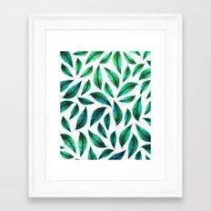 Tropical Foliage Pattern #society6 #decor #buyart Framed Art Print