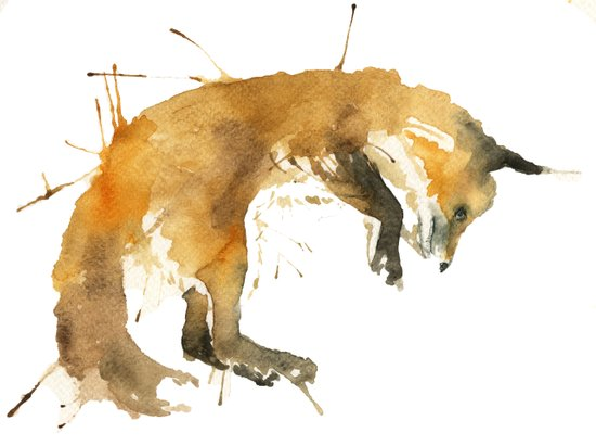 Sleepy Fox Art Print