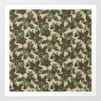 Raccoon Lake - Green Art Print