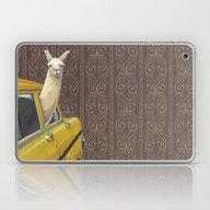 Laptop & iPad Skin featuring Taxi Llama by Jason Ratliff
