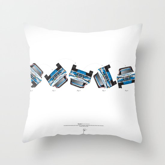 Ari Vatanen-Bruno Berglund, 1989 Paris Dakar crash sequence Throw Pillow