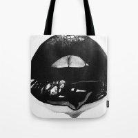 Ink Lips Tote Bag