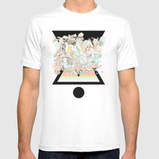 mushrooms & horses Mens Fitted Tee White SMALL