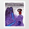 Mystery planet Art Print