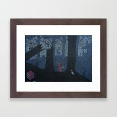 Red Riding Hood Negative… Framed Art Print