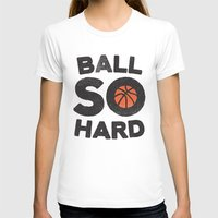 Ball So Hard Womens Fitted Tee White SMALL