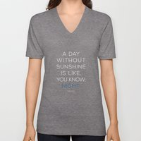 A Day Without Sunshine. Unisex V-Neck