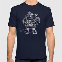 Panda Music Jaeger Mens Fitted Tee Navy SMALL