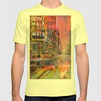 Traffic Jam Pink Mens Fitted Tee Lemon SMALL