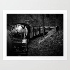 Spooky Train Art Print
