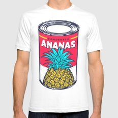 Condensed ananas Mens Fitted Tee White SMALL