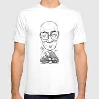 HRH Dalai Lama Mens Fitted Tee White SMALL