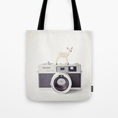 The Deer and The Minolta Tote Bag