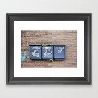 Mailboxes Framed Art Print