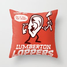 Lumberton Loppers Throw Pillow