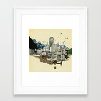 Collage City Mix 7 Framed Art Print