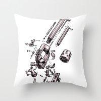 Exploded Gun Throw Pillow