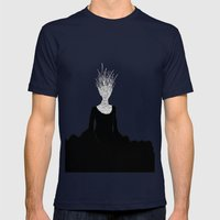 Black Fire Mens Fitted Tee Navy SMALL