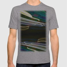 Night Light 97 Mens Fitted Tee Athletic Grey SMALL
