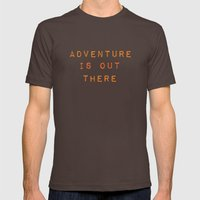 ADVENTURE IS OUT THERE Mens Fitted Tee Brown SMALL