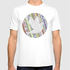 Mosaic Bird Mens Fitted Tee White SMALL