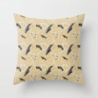 Golden clouds Throw Pillow