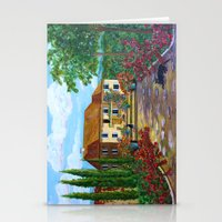 Tuscany with Cats Stationery Cards