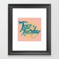 Taco Tuesday Framed Art Print