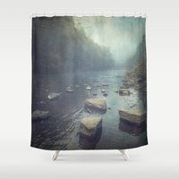 Water And Stone New Vers… Shower Curtain