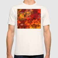 Scorched Earth. Mens Fitted Tee Natural SMALL