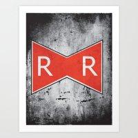 Red Ribbon Army Art Print