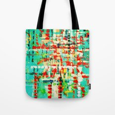 on my street -turquoise abstract Tote Bag