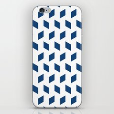 rhombus bomb in monaco blue iPhone & iPod Skin