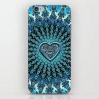 Celtic Heart Knot Fractal Mandala iPhone & iPod Skin