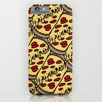 iPhone & iPod Case featuring pattern pizza by mike boyle