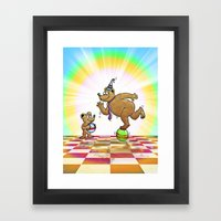 Admiring Daddy Bear Framed Art Print