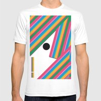 Hungry Shark Mens Fitted Tee White SMALL