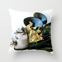 AiVee portrait | Collage Throw Pillow
