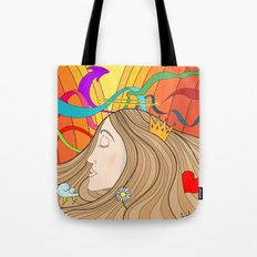 LOST IN HER DREAMS Tote Bag