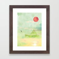 Snow House Framed Art Print