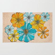 Sunny flowers Rug