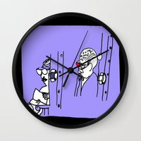 Reading Lady x2 Wall Clock