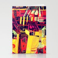 Industrial Abstract Red Stationery Cards