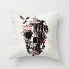 Istanbul Skull Throw Pillow