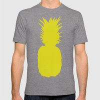 Pineapple Pattern Mens Fitted Tee Tri-Grey SMALL
