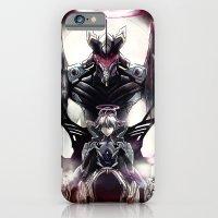 iPhone Cases featuring Kaworu Nagisa the Sixth. Rebuild of Evangelion 3.0 Digital Painting. by Barrett Biggers