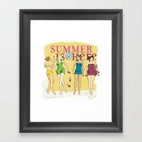 Summer Is Here. Framed Art Print