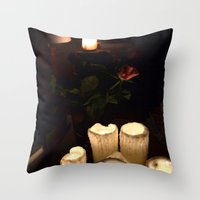 melting candles Throw Pillow