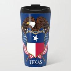 Texas flag and eagle crest - original concept and design by BruceStanfieldArtist Travel Mug